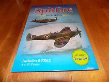 SPITFIRE IN PICTURES World War II Airplane RAF Fighter WW2 Book + Print Set NEW