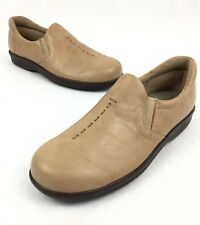 SAS Tripad Comfort Women's 7.5 S Natural Leather Round Toe Slip On Loafers Shoes