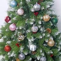 12Pcs 6cm Christmas Tree Xmas Balls Decorations Baubles Party Wedding Ornaments