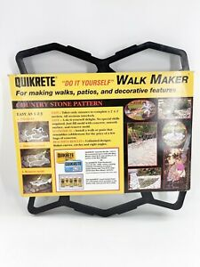 Quikrete 6921-32 Recycled Plastic Walk Maker Concrete Stone Pattern Form 24 in.