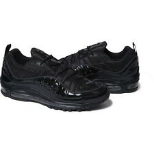 SUPREME x Nike Air Max 98 Black 8.5 box logo camp cap tnf snake S/S 16