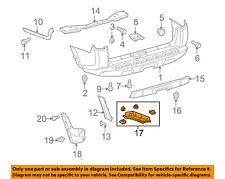TOYOTA OEM 4Runner Rear Bumper-Lower Diffuser Deflector Trim Right 5372335050