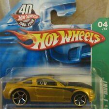 Hot Wheels Ford Mustang GT T-Hunt 40th Anniversary Short Card NIP / Box H2