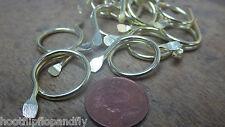 20 X Electro Latonado Split Argollas Metal 19mm Persianas Cortina Artesanal Arte