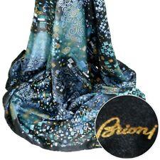 BRIONI Black Abstract 100% Silk Square Scarf Shawl Wrap Headscarf MSRP $795