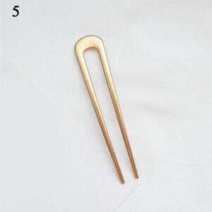 Women Acrylic Fork Hairpin Versatile U-shaped Hairpin Stick DIY Hair Style Tool*