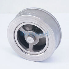 "DN50 2"" 304 Stainless Steel Wafer Check Valve Non-return One Way Valve"