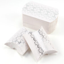 50 Pieces Candy Box Paper Pillow Gift Boxes Wedding Party Favors Bags