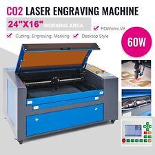 60w 24x16in Workbed Co2 Laser Cutting Engraving Machine Engraver Cutterlaser En