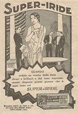 W1114 SUPER-IRIDE - Tinta per tessuti - Pubblicità 1926 - Vintage Advert