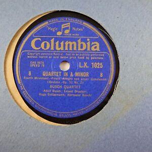 BRAHMS QUARTET in A Minor Op 51 No 2 Busch Quartet Fourth Mvmt Ist pt Concl 78