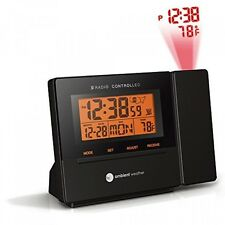 Ambient Weather RC8427 Radio Controlled Projection Alarm Clock with Indoor