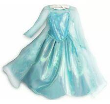 Disney Store Girls Size 9/10 Frozen Princess Queen Elsa Girls Deluxe Dress