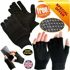 Winter Thermal Fingerless Stretch Gloves Grip Gripper Half Finger Work Fishing