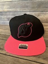 New Jersey Devils NHL Hat Cap Snapback Black Pink Reebok Adjustable OSFA