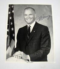 Foto John H. Glenn Nasa signierte schwarz weiss Photo Karte Astronaut selten