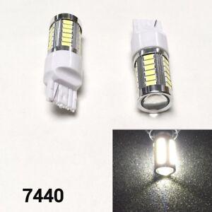 Front Turn Signal Light 33 LED Bulb 6000K White T20 7440 w21w 992 B1 #12 For GM