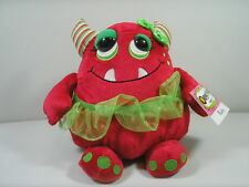 """Ganz Ruby Red Oogarella Christmas Monster 8"""" Plush Loves to Shop Ballerina NWT"""