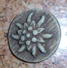 Kunststoff Ösen Knöpfe mit floralem Muster 5 schöne hellgrün cremefb 1300mg