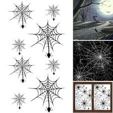 Halloween Simulation Spider Web Sticker Horror Window Decoration US