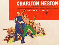 THE BUCCANEER original 1958 movie poster YUL BRYNNER/INGER STEVENS/CLAIRE BLOOM