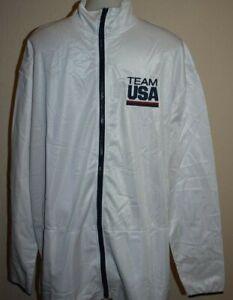 NWOT USA Olympics Team Track Jacket XL Sweatshirt Full Zip New