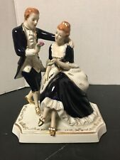 Vintage Porcelain  Couple Blue And White Japan? Italy?