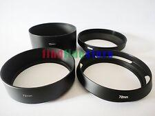 72mm standard telephoto wide angle vented curved metal lens hood kit set 4pcs