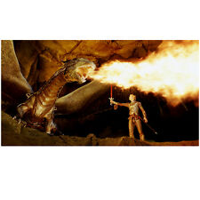 Eragon Ed Speelers Holding Sword and Fire Breathing Dragon 8 x 10 Inch Photo