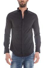 Armani Jeans Shirt Cotton Man Black C6C13NL 12 Sz.S MAKE OFFER