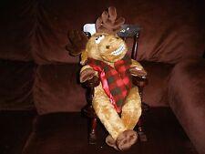 Grandma Got Run Over By A Reindeer Moose Dan Dee Rocking Singing Animated WORKS