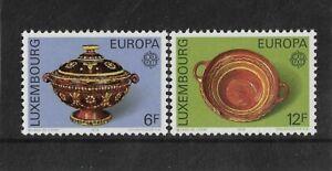 Luxembourg 1976 Europa Mint Set 19th Century Pottery
