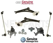 For Audi VW Front Lower Control Arms & Bushings Ball Joints Bar Link Kit Genuine