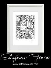 Grafica d'autore originale firmata a mano - Stefano Fiore Arte
