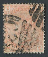 """GB utilizzati in Perù Z38 1876 4D vermiglio PL15, me, parte """"C38"""" di Callao, piccola lacerazione"""