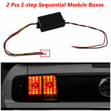 2X 3-Step Sequential Flow Semi Dynamic Chase Flash Tail Light Module Boxes