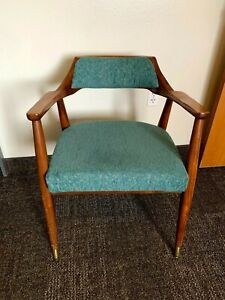 Pair of Mid-century, Walnut, Jaspar Chairs. Danish style.