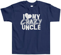 I Heart My Crazy Uncle Toddler T-Shirt Tee Love Family Cray Funny Saying Cute