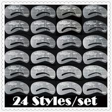 24x Augenbrauen Schablone Augenbraue nachmalen Pflege Gestaltung Vorlage formen