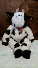 "Cow stuffed animal Build a Bear plush collectible toy with cow bell 18"" cuddle"