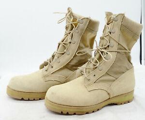 Desert Jump Military Army Suede Tactical Work Boots Men's Sz 9 W VIBRAM Soles