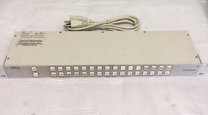 Leitch 32x1p Video Switcher Control Panel