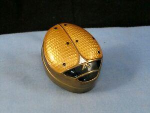 ART DECO VINTAGE GUILLOCHE ENAMEL FIGURAL LADYBIRD BUG TRINKET BOX PILL POT CASE