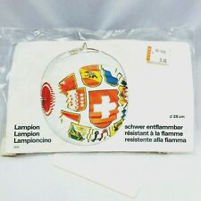 Vintage Nos Reusable Lampion Paper Halloween Lantern with Candle 25 cm Round