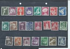 West Germany stamps.1975 - 1982 Industry & Technology set of 23 used (Y363)