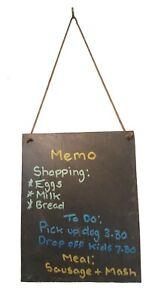 Handmade Slate Hanging Memo Chalkboard Blackboard Board Wedding 25cm x 20cm
