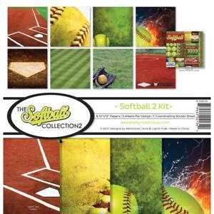 SOFTBALL Sports Collection Kit 12X12 Scrapbooking Kit REMINISCE TSOFC-201 New