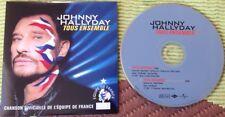 JOHNNY HALLYDAY CD DEUX TITRES  ETAT NEUF . TOUS ENSEMBLE