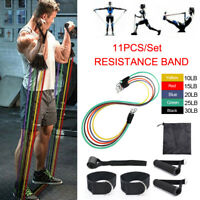 11Pcs Set Resistance Bands Workout Exercise Crossfit Fitness Training Tubes Home