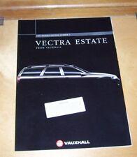 VAUXHALL VECTRA ESTATE SALES BROCHURE 1997 Models Ed.1 Envoy LS GLS SRi CDX
